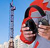 保护耳机   免版税照片