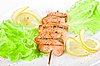Salmon kebab   Stock Foto