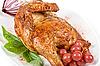 절반 구운 닭 근접 촬영 | Stock Foto