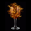 Photo 300 DPI: red wine in fire