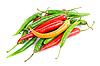 Фото 300 DPI: разноцветные перцы чили