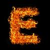 화재 편지 E | Stock Foto