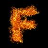 Feuer-Buchstabe F | Stock Foto