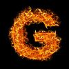 화재 문자 G   Stock Foto