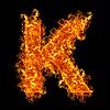 화재 문자 K | Stock Foto