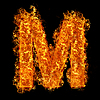 Feuer-Buchstabe M | Stock Foto