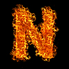 Photo 300 DPI: Fire letter N