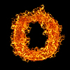 화재 문자 O   Stock Foto