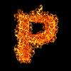 Feuer-Buchstabe P | Stock Foto