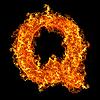 Feuer-Buchstabe Q | Stock Foto