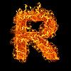화재 편지 R | Stock Foto