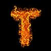 화재 문자 T | Stock Foto