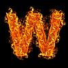 화재 문자 W   Stock Foto