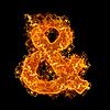 화재 앰퍼샌드 기호 | Stock Foto