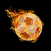 Photo 300 DPI: fire soccer ball