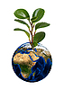 ID 3021460 | Earth planet with sprout | High resolution stock photo | CLIPARTO