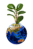 Earth planet with sprout | Stock Foto