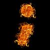 Semicolumn 문자를 화재 | Stock Foto