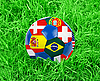 Soccer ball in grass | Stock Foto