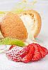 Dessert of ice-cream at biscuit | Stock Foto