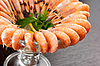 Shrimps with lemon   Stock Foto