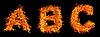 Photo 300 DPI: Set of Fire letter A B C