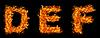 화재 편지 DEF의 설정   Stock Foto