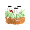 ID 3027193 | Frischer Sahnekuchen | Foto mit hoher Auflösung | CLIPARTO