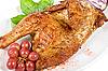 Photo 300 DPI: Half roasted chicken closeup