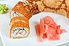 Pancake sushi   Stock Foto