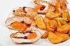 구운 닭고기와 감자   Stock Foto