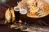 Beer and snacks set | Stock Foto