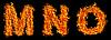 Photo 300 DPI: Set of Fire letter M N O