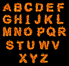 Set of Fire alphabet | Stock Foto