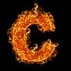 불 작은 문자 C   Stock Foto