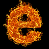 Fire small letter E | Stock Foto