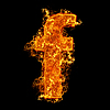 작은 문자 F를 화재 | Stock Foto