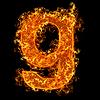 화재 소문자 G | Stock Foto