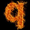 화재 소문자 Q   Stock Foto