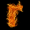 Fire small letter R | Stock Foto