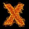 화재 소문자 X   Stock Foto