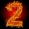 Feuer-Ziffer 2 | Stock Foto