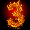 Fire number 3 | Stock Foto