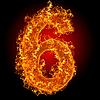 Feuer-Ziffer 6 | Stock Foto