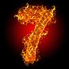 화재 숫자 7 | Stock Foto
