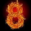Feuer-Ziffer 8 | Stock Foto