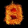 화재 문자 B   Stock Foto