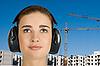 ID 3028171 | Frau in schützenden Kopfhörer | Foto mit hoher Auflösung | CLIPARTO