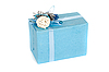 Caja de regalo azul | Foto de stock