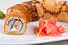 Omelette sushi   Stock Foto